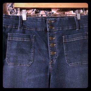 Sz 14 chaps jeans nwot high waist